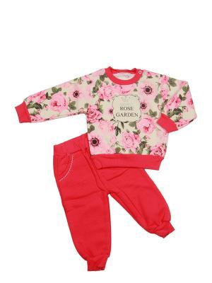 Костюм детский M-BABY. Цвет: молочный, красный, розовый