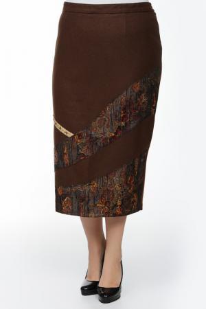 Юбка BERKLINE. Цвет: коричневый