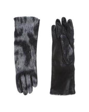 Перчатки VERONIQUE LEROY. Цвет: черный