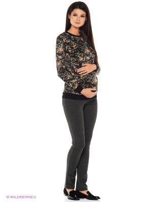 Джемпер для беременных 40 недель. Цвет: желтый, черный