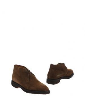Полусапоги и высокие ботинки MELLUSO. Цвет: хаки