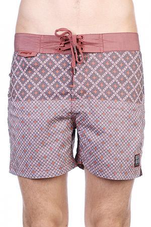 Пляжные мужские шорты  Mosaic Bunker Brick Insight. Цвет: бежевый,бордовый