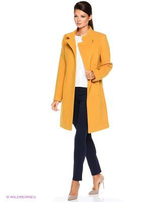 Пальто PARADOX. Цвет: горчичный