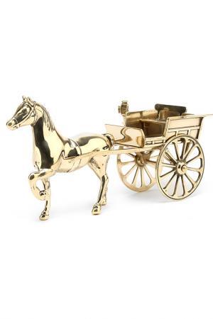 Аксессуар Лошадь с двуколкой Stilars. Цвет: золотой