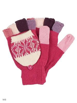 Перчатки lawiggi. Цвет: розовый
