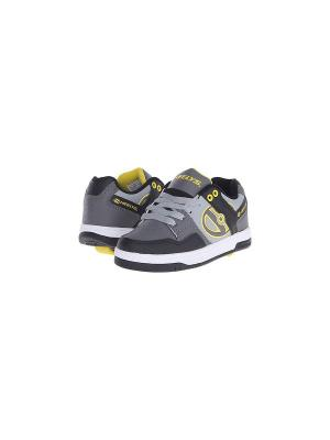 Роликовые кроссовки Heelys Flow. Цвет: серый, желтый