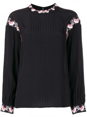Блузка с цветочной вышивкой Steffen Schraut. Цвет: чёрный