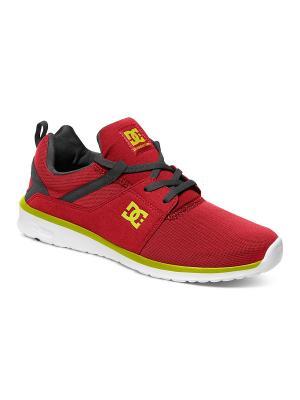 Кроссовки DC Shoes. Цвет: темно-красный, красный, терракотовый