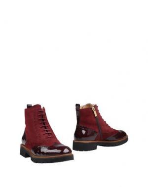 Полусапоги и высокие ботинки FIORANGELO. Цвет: красно-коричневый