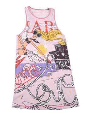 Платье CUSTO GROWING. Цвет: розовый