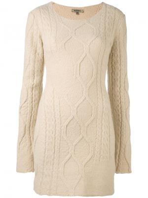 Трикотажное платье с длинными рукавами Yeezy. Цвет: телесный