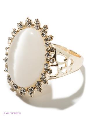 Кольцо Bijoux Land. Цвет: золотистый, молочный
