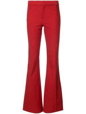 Flare Trouser with Tuxedo Piping Derek Lam 10 Crosby. Цвет: красный
