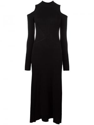 Трикотажное платье Cut-out Loma. Цвет: чёрный