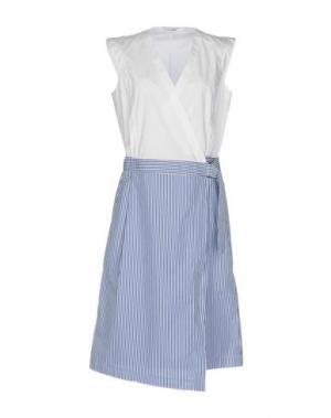 Платье до колена CALIBAN. Цвет: белый