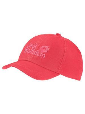 Бейсболка KIDS BASEBALL CAP Jack Wolfskin. Цвет: коралловый