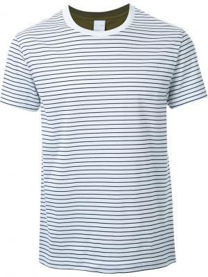 Полосатая футболка Cityshop. Цвет: белый