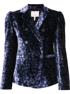 Floral pattern fitted blazer Rebecca Taylor. Цвет: синий
