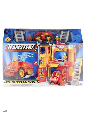 Большая пожарная станция Teamsterz HTI. Цвет: темно-синий, красный, коралловый, оранжевый, желтый, синий, лазурный, рыжий, светло-оранжевый, светло-желтый