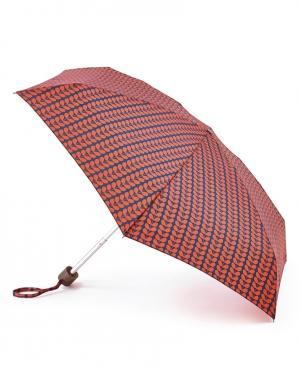 Зонт механический Листья красные  by Fulton Orla Kiely. Цвет: красный