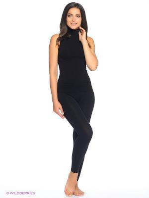 Водолазка женская без рукавов Intimidea. Цвет: черный