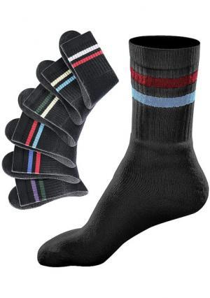Спортивные носки, 6 пар GO IN. Цвет: белый в полоску, серый в полоску, черный в полоску