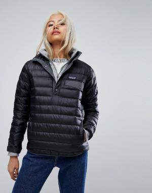 Patagonia Черная куртка с кнопками. Цвет: черный
