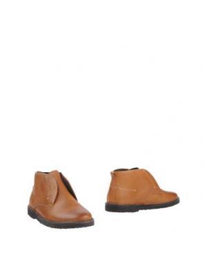 Полусапоги и высокие ботинки BOEMOS. Цвет: желто-коричневый