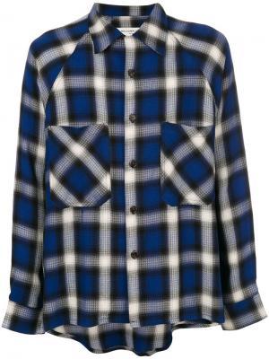 Классическая рубашка в клетку Mr. Completely. Цвет: синий