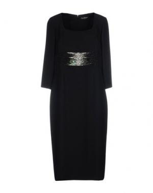Платье длиной 3/4 IVAN MONTESI. Цвет: черный