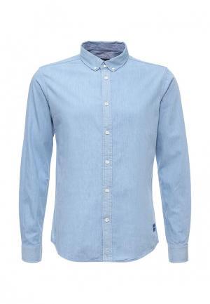 Рубашка Solid. Цвет: голубой