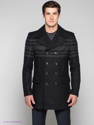 Пальто Bazioni. Цвет: черный