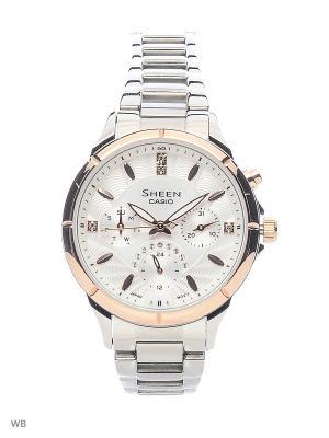 Часы Sheen SHE-3047SG-7A CASIO. Цвет: белый