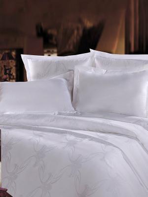 Комплект постельного белья Mona Liza. Цвет: белый