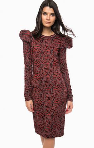 Трикотажное платье с длинными рукавами Pinko. Цвет: черный
