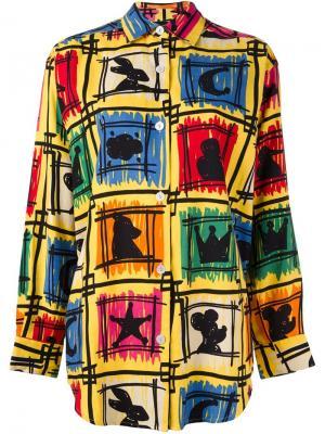 Рубашка с графическим принтом Jc De Castelbajac Vintage. Цвет: многоцветный