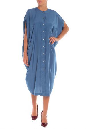 Платье One Size Cyrille Gassiline. Цвет: синий