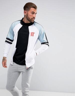 11 Degrees Белая спортивная куртка с голубыми вставками. Цвет: белый