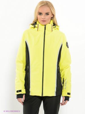 Куртка NAPAPIJRI. Цвет: салатовый, черный