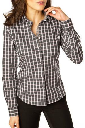 Рубашка GAZOIL. Цвет: коричневый