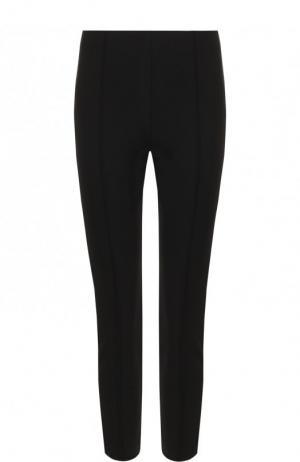 Укороченные однотонные брюки-скинни The Row. Цвет: черный