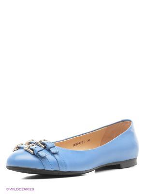 Балетки BASCONI. Цвет: голубой
