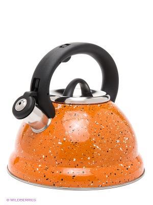 Чайник метал. Мраморная Крошка MB (х12) MAYER-BOCH. Цвет: оранжевый, черный