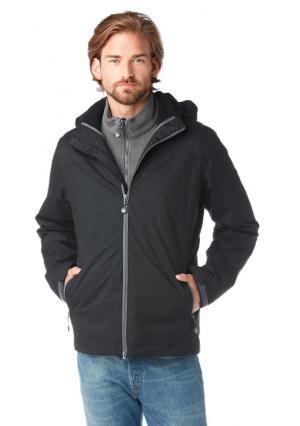 Куртка 3 в 1 POLARINO. Цвет: черный