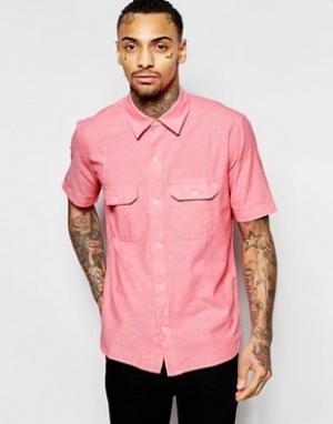 American Apparel Рубашка классического кроя из шамбре с короткими рукавами App. Цвет: розовый