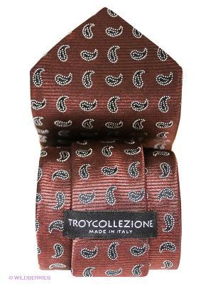 Галстук Troy collezione. Цвет: коричневый, черный, серый