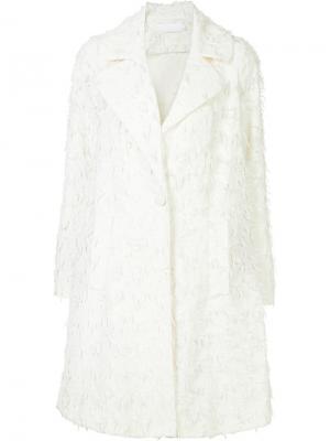 Пальто с бахромой Co. Цвет: белый