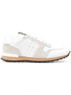 Кроссовки с панельным дизайном Valentino. Цвет: белый