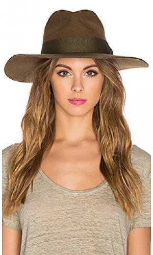 Шляпа duvall Brixton. Цвет: оливковый