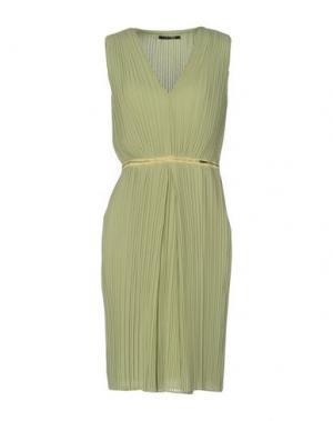 Платье до колена TRY ME. Цвет: светло-зеленый